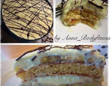 HIGH CARB Bananen-Creme-Torte (ohne Bananen        LOW CARB)