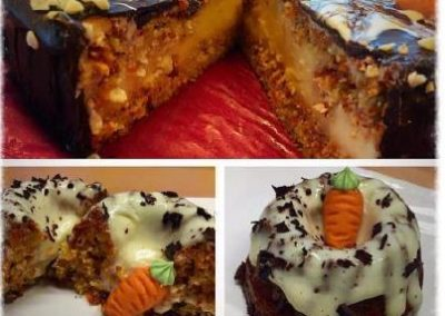 LOW CARB & HIGH FAT Karottenkuchen mit Vanilleguss