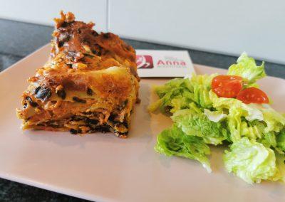 HIGH CARB Feta-Spinat Lasagne