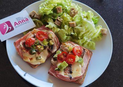 LOW CARB Schinken-Käse-Toast